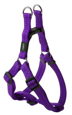 Rogz Utility Medium 5/8-Inch Reflective Snake Adjustable Dog Step-in-Harness, Purple... DogSiteWorld-Store - http://dogsiteworld.com