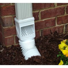 Remove unwanted leaves and debris from your gutter and downspouts with the Amerimax Flex-Grate Downspout Debris Filter Strainer Gutter Leaf Guard Residential Connector in White. The clog-free downspout connection prevents debris buildup in your drainage. Gutter Drainage, Backyard Drainage, Landscape Drainage, Down Spout Drainage, Drainage Solutions, Drainage Ideas, Hydrangea Care, Water Collection, Rain Barrel
