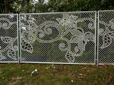 Lace Fence by Demakersvan -   Lace in Translation @ The Design Center at Philadelphia University