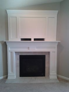 8 Enhancing Clever Ideas: Tv Over Fireplace Brick white concrete fireplace.Fireplace Decorations With Tv fireplace cover floor plans.Tv Over Fireplace Brick. Home Fireplace, New Homes, Remodel, Diy Fireplace Mantle, Home, Fireplace Surrounds, Fireplace Built Ins, Diy Fireplace Makeover, Fireplace Mantle