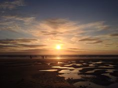 Blackpool beach at its best beautiful sunset
