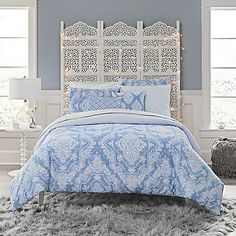 Prettify your bedroom with the pleasing color palate and divine comfort of the Anthology Tamara Comforter Set. Crafted with a cotton cover, this comforter set displays tranquil blue hues and gentle detail to transform any space into a soothing sanctuary.