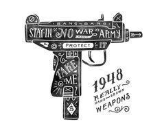 betype:  Hand Drawn Guns by Anton Gorbunov.