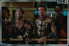 The Ice Pirates (1984) | Sci-Fi Saturdays | A film about frozen water, buccaneers, and space herpes. Mary Crosby, John Carradine, Pirate Movies, Frozen Water, Fighting Robots, Evil Empire, Space Battles, Sci Fi Films, Actor John