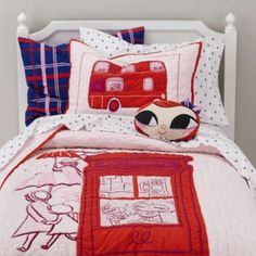Lately Lily London Bedding  | The Land of Nod. Audrey has the app; now we need the bedding