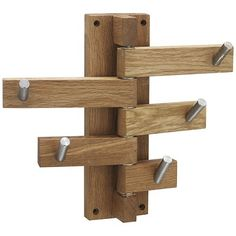 John Lewis 5 Hook Coat Rack, Oak