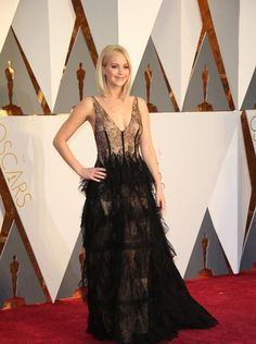 88th Academy Awards Red Carpet extravaganza and glamour - OSCARS 2016 fashion style - Jennifer Lawrence in Dior
