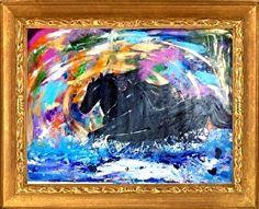 Finally Embracing the Chaos The Happiness Gallop by Rizwana Mundewadi Acrylic ~ 30 x 40
