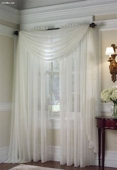 Sheer Drapes: A perfect dressing for window curtains UK @ amhomefurnishing. - Home Designs Curtains Uk, Cheap Curtains, Colorful Curtains, Curtains With Blinds, Sheer Drapes, Bedroom Curtains, Drapery Panels, White Curtains, Corner Curtains