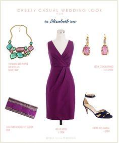 Purple Dress for a Wedding Guest