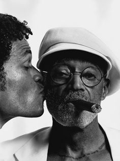 Mario Van Peeples with his dad, Melvin Van Peeples. // Mario Cain Van Peebles was born in January 1957 in Mexico City, Mexico, the son of writer, director and actor Melvin Van Peebles and German actress and photographer Maria Marx. He is an US and Black Fathers, Fathers Love, Father And Son, My Black Is Beautiful, Black Love, Black Men, Black And White, Beautiful People, Black Actors
