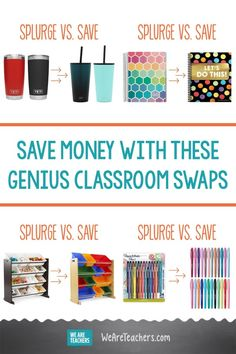 Save Money With These Genius Classroom Swaps. Weve scoured the Internet to find some of the best splurge-versus-save classroom swaps. The best part? Our picks have all been reviewed by real teachers. #classroomorganization #classroomideas #classroomdecor #classroom
