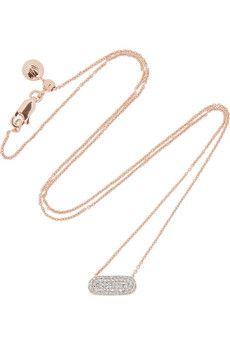Monica Vinader Vega rose gold-plated diamond necklace   NET-A-PORTER