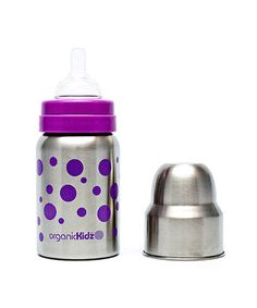 Look what I found on #zulily! Lavender Dot Wide-Mouth 9-Oz. Bottle by organicKidz #zulilyfinds