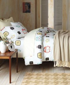 Guest room decorating - Retro Clock Bedding by Garnet Hill