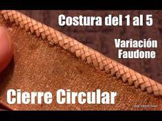 """Costura del 1 al 5 (variación Faudone) Cierre circular """"El Rincón del So..."""