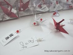 Mini móbiles de tsuru - Sakura Origami - http://www.sakuraorigami.com.br/