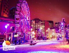 Location: Montreal Canada  Photo by @planetemerson  Follow @PlanetEmerson  Snapchat PlanetEmerson   #snowcovered #lumiere #montrealenlumiere #travelphotos #digitalnomad #planetemerson #worldtravel #wanderlust