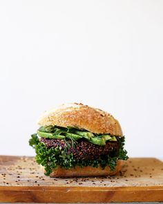 ULTIMATE HEALTHY BURGERS  gluten free  vegan  nut free  soy free  fructose friendly  Crispy on the outside succulent and textured on the inside combined with delicious tahini sauce and ripe avocado  this recipe is the ultimate plant based burger! Head to http://ift.tt/2DZHe4Z for the full recipe!