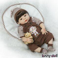 Hot Full Body Silicone Reborn Baby American Indian Boy Dolls Newborn Native 11/'/'