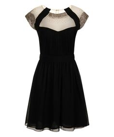 Take a look at this Black Sparkle A-Line Dress on zulily today!