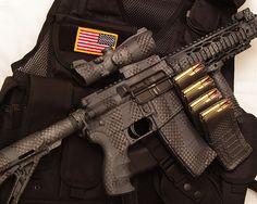 urban camo rifle | Urban Camo Rifle Duracoat AR15 | Flickr - Photo Sharing!