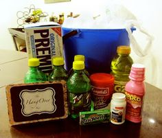 Everyone needs a 'Hangover Kit' at least once in their life. Be the one that gives this gift, and you'll be their friend forever. This site gives you ideas to put in your 'Hangover Kit'. Great idea for a 21st birthday, a Bachelor/Bachelorette Party, New Years... any occasion that requires alcohol. \kp/