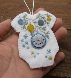 Baby's First Christmas Felt Romper Ornament by BananaBugAndZod