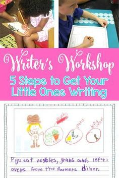 Writer's Workshop: Five Steps to Get Your Little Ones Writing - Information, ideas, and lesson plans for Writer's Workshop in Kindergarten and First Grade.