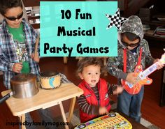 musical party games - good ideas for learn and play group