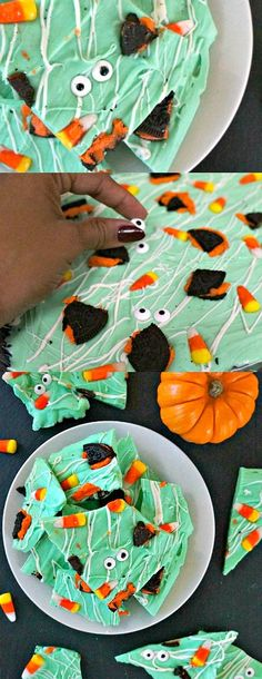 Learn how to make your own spooky monster Halloween bark. What a fun Halloween…