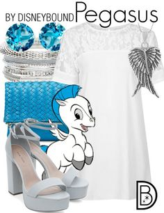 You will be ready to soar in this Pegasus from Hercules inspired outfit | fashion | outfits | disneyland outfits | disney world outfits | disney fashion outfits | disneybound | disneybound outfits | disney outfits | disney outfit ideas |