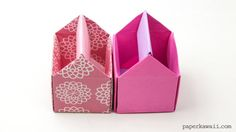 origami toolbox or pencil pot - tutorial Origami Paper Folding, Origami And Quilling, Paper Crafts Origami, Diy Paper, Oragami, Origami Flowers, Origami Star Box, Origami Ball, Origami Stars