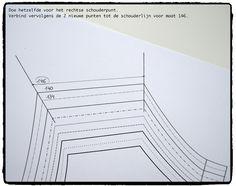 Hoe teken je een patroon 1 of 2 maten kleiner of groter