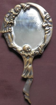 Art nouveau bronze and visages on pinterest for Miroir sur la lune
