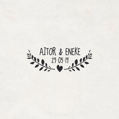 "Sello boda ""Aitor+Eneke""   PPStudio"