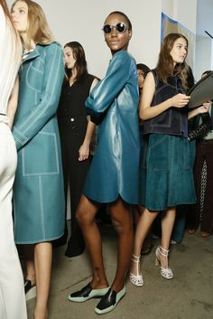 Backstage at Derek Lam RTW Spring 2015 [Photo by Kyle Ericksen]
