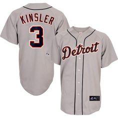 2014 Ian Kinsler Detroit Tigers Grey Road Replica Jersey Men's – Detroit Sports Outlet