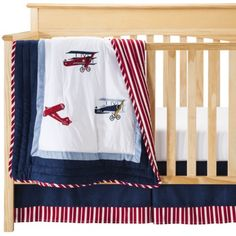 Sweet Jojo Designs Vintage Aviator 11 Pc. Crib Bedding Set