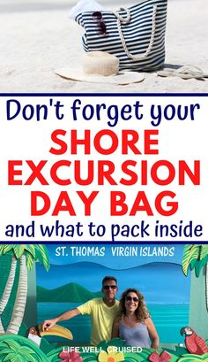 Whether you take a beach shore excursion or a tour, you'll want to make sure you have your must-have items packed and ready to go. Packing list of essentials for a Caribbean cruise, whether traveling with kids or on your own. Bahamas Cruise, Cruise Port, Cruise Travel, Caribbean Cruise, Cruise Vacation, Hawaii Vacation, Vacation Ideas, Cruise Excursions, Cruise Destinations
