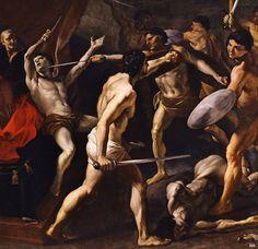 Detail: Feast of the Gladiators. c.1635. Giovanni Lanfranco. Italian. 1582-1647.oil on canvas.