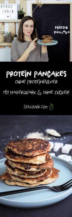 Protein Pancakes für die Menschen, die ohne Proteinpulver leben - nämlich mit Quark!