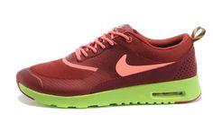 finest selection 0bee3 3b50a Heren Nike Air Max Thea Print Bordeaux Roze Groen Originele   Goedkoop Nike  Air Max Roshe Run,Nike Free Run Sneakers Online Winkel, Nike Dames Heren ...
