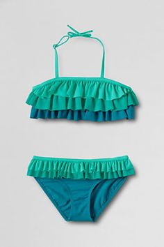 Girls Big Kid (size 7-20) Bikini Set Two-piece Swimsuit Sets from Lands' End