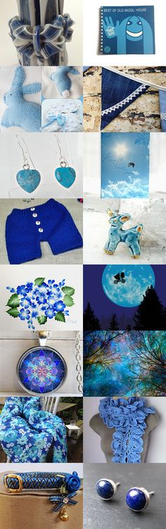 Beautiful Blends of Blue by Catherine Drabble on Etsy--Pinned with TreasuryPin.com