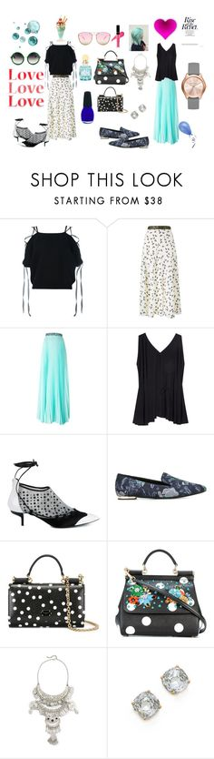 """Rise rebel ..."" by jamuna-kaalla ❤ liked on Polyvore featuring Valentino, Roksanda, Christopher Kane, The Row, J.W. Anderson, Burberry, Dolce&Gabbana, Raga, Kate Spade and vintage"