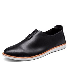 Men's Artificial Leather Light Portable Slip On Casual Loafers