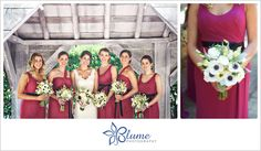 Beautiful berry colored bridesmaids dresses. #mismatchedbridesmaids