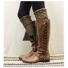 Boot cuff, boot socks cuff, boot topper, knit boot cuffs, leg warmer,... via Polyvore