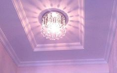 Image result for Mini Style 1-Light Flush Mount Crystal Chandelier